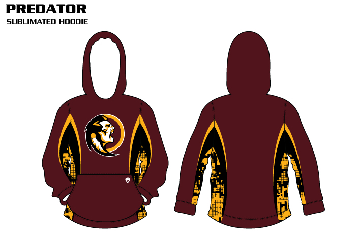 predator-sublimated volleyball hoodies